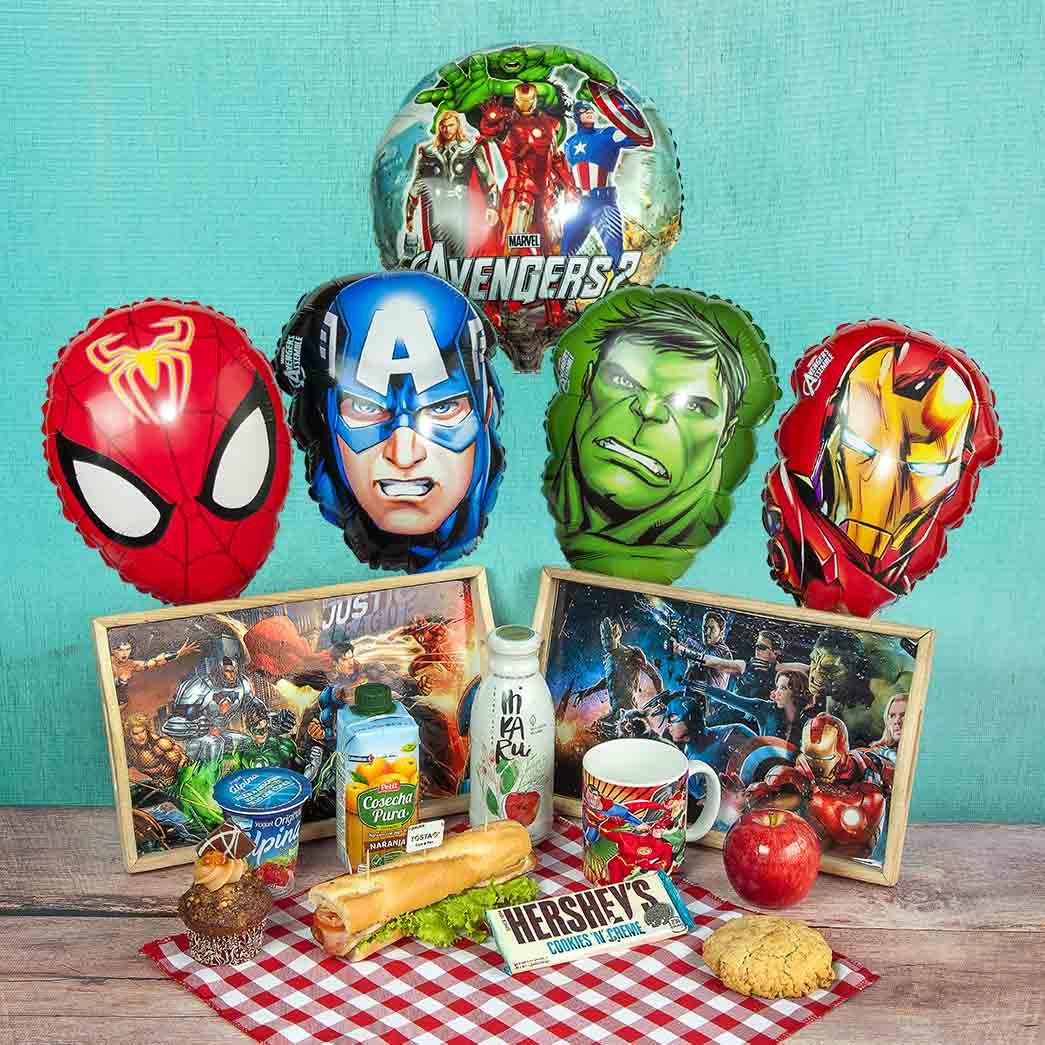 Sorpresa Superhéroe-Desayunos de cumpleaños para niños