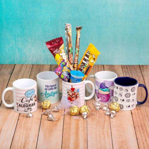 Mugs Personalizados con Dulces