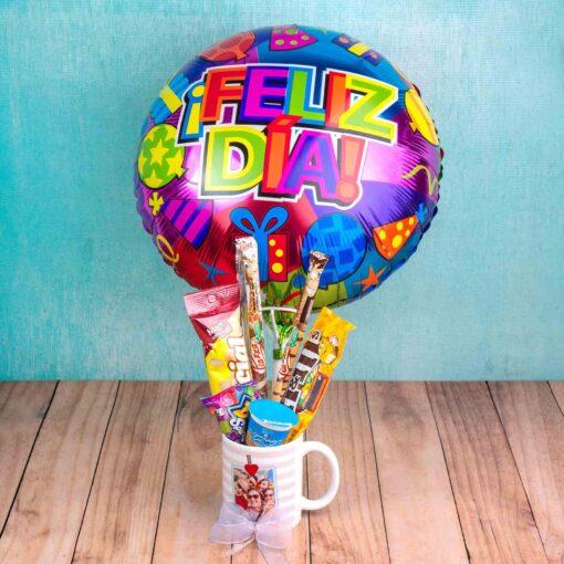 Mug decorados con globo metálico-regalos sorpresa bogota