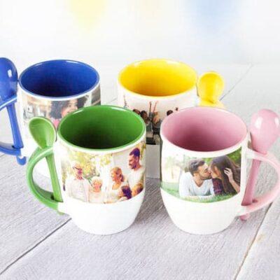 Mug cuchara color Interno y Oreja-desayunos sorpresa Bogota